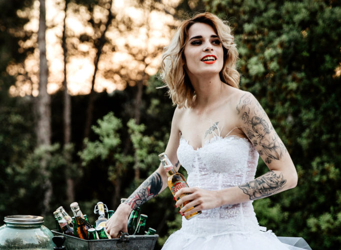 Julie, the rock'nroll bride for our styled shoot